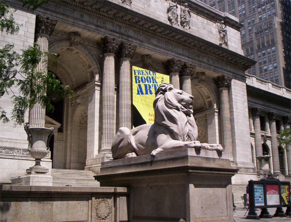 New York Public Library, exterior