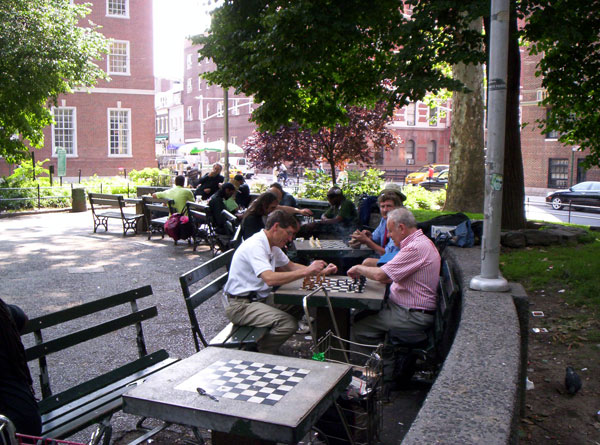 Chess in Washington Square Park